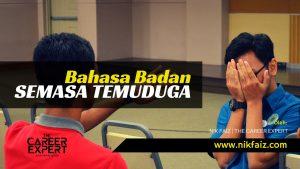 Bahasa Badan Semasa Temuduga Interview, Apa Anda Patut Tahu