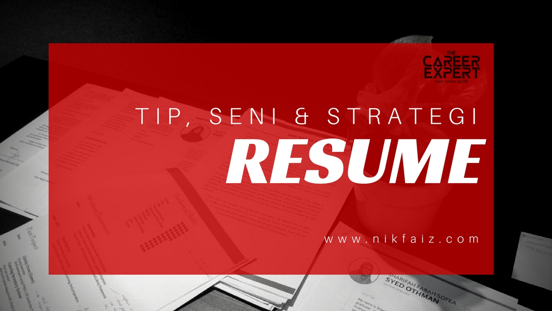 contoh resume career coach malaysia