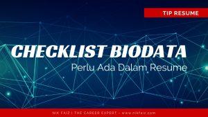 Biodata Dalam Resume