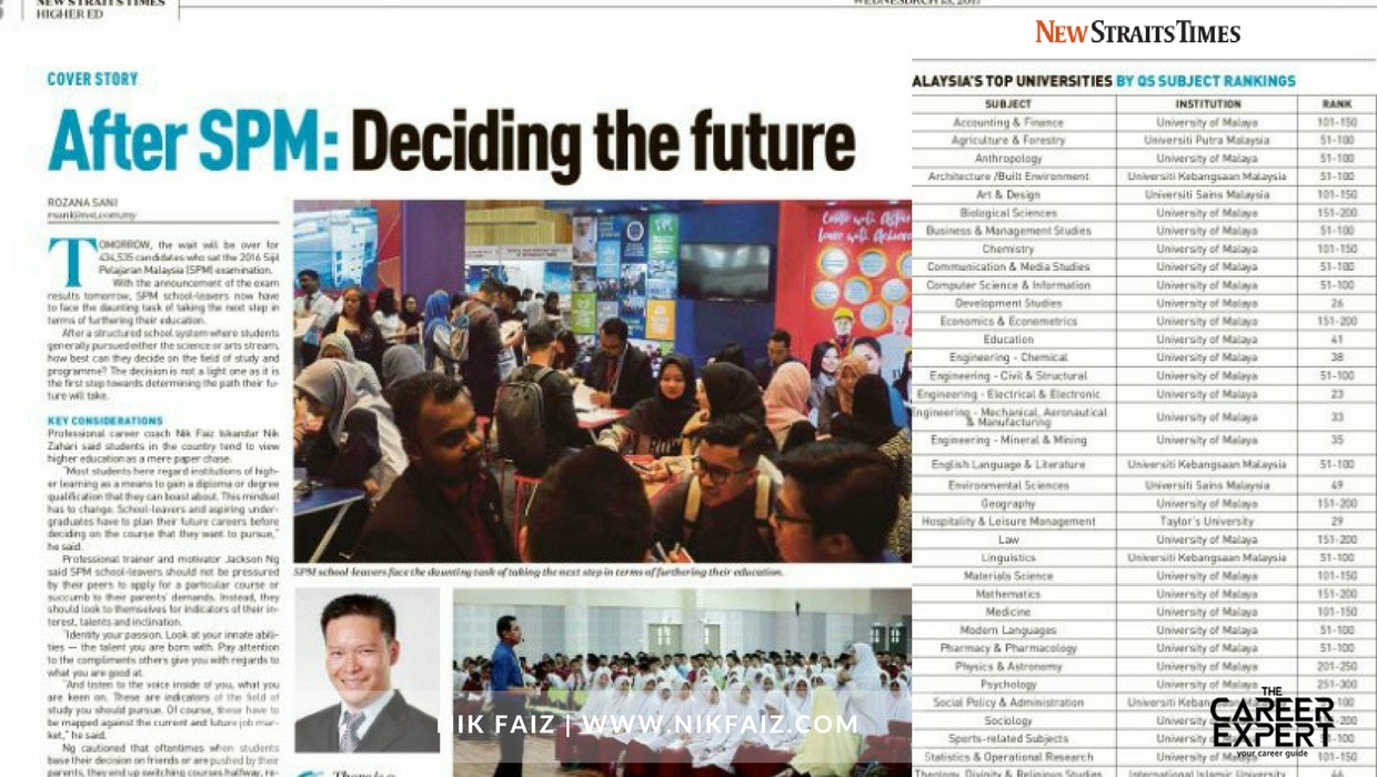What's Next After SPM – As Seen in New Straits Times