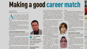 THE CAREER EXPERT DALAM NEW STRAITS TIMES