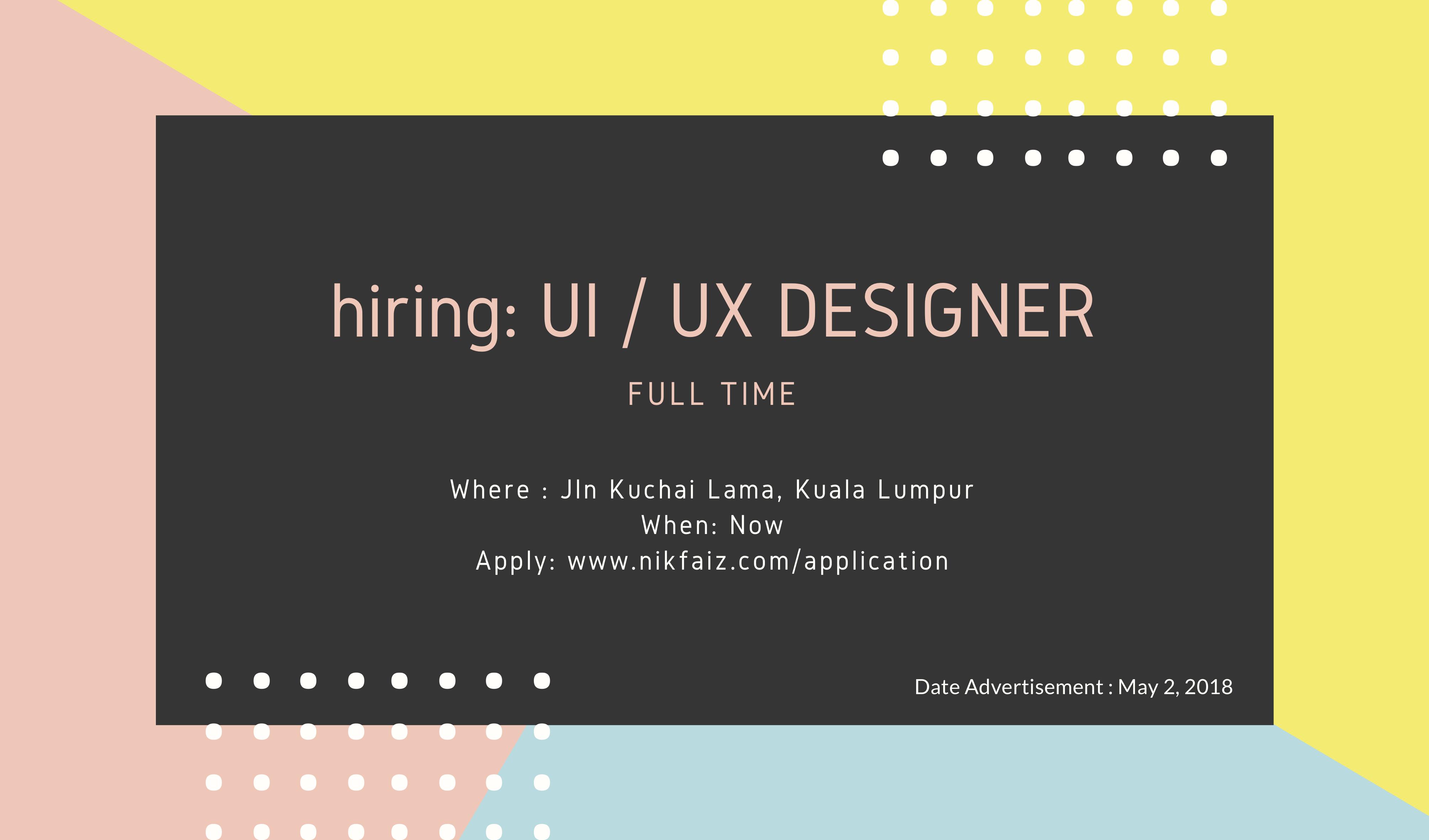 Hiring: UI/UX Developer