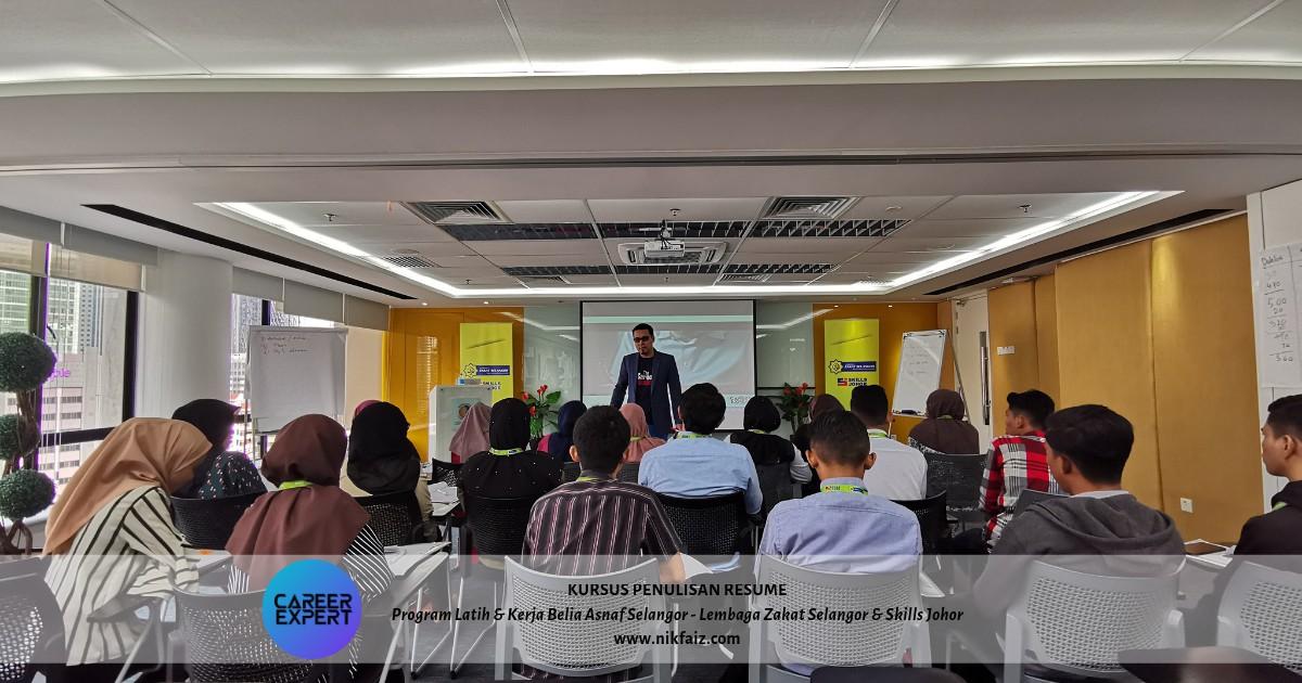 Kursus Penulisan Resume di Program Latih & Kerja Belia Asnaf Selangor